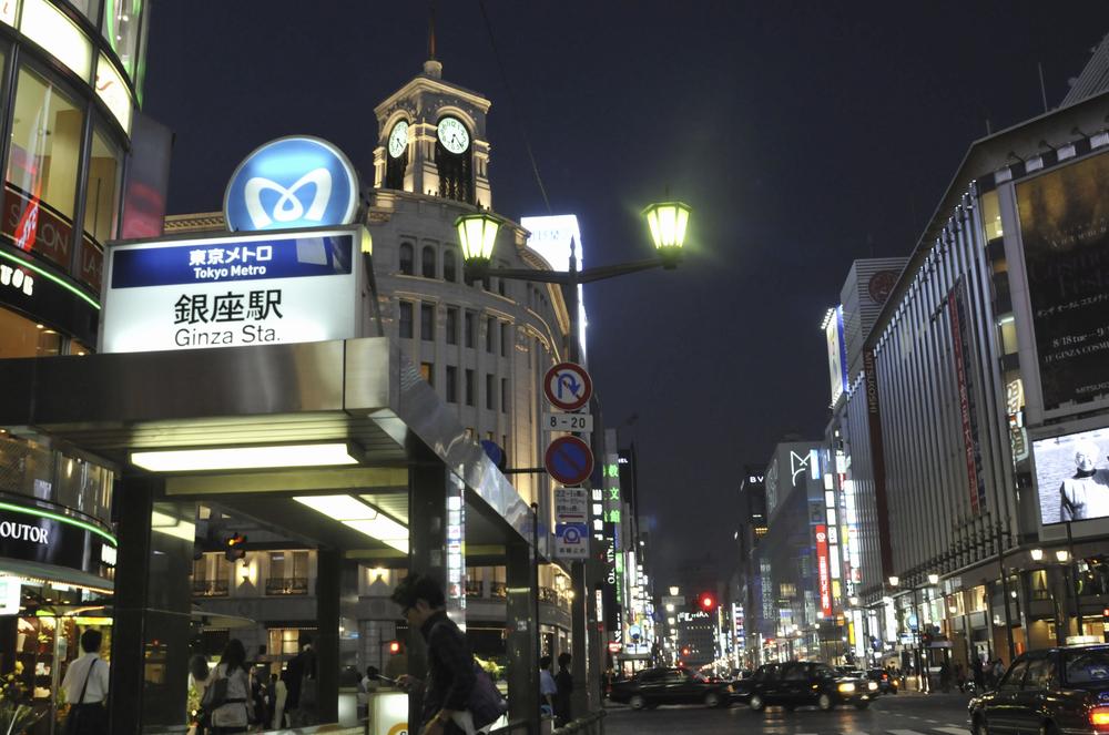銀座の街画像